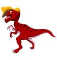 Dinosaur Parasaurolophus cartoon vector image vector image