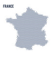 dotted map of france isolated on white background vector image