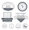 Education set label template of emblem element for vector image vector image