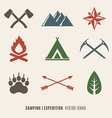 Expedition symbols vector image