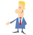 funny man or businessman cartoon character vector image vector image
