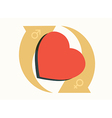 heart love concept vector image vector image