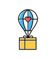 humanitarian assistance color icon delivery aid vector image vector image