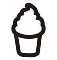 isolated ice cream outline vector image vector image