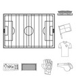 isolated object of soccer and gear sign vector image vector image