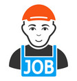 jobless flat icon vector image vector image