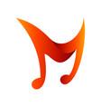 letter m music logo vector image vector image