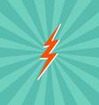 lightning bolt theme vector image vector image
