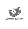 lobster and chicken fast food restaurant concept vector image vector image