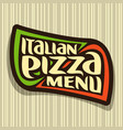 logo for italian pizza vector image vector image