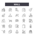 mall line icons signs set linear concept vector image vector image