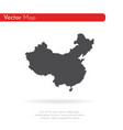 map china isolated black on vector image