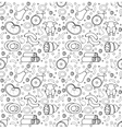 Meat products seamless pattern modern line vector image vector image