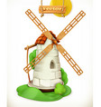 Mill Windmill 3d icon vector image vector image