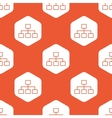 Orange hexagon scheme pattern vector image vector image