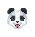 panda cute face with polygonal geometric style vector image