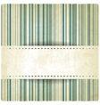 pastel striped old background vector image vector image