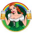 patrick girl emblem vector image