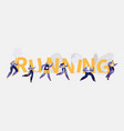 people marathon running sport competition banner vector image vector image