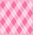 pink violet and white seamless argyle pattern vector image vector image