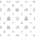 power icons pattern seamless white background vector image vector image