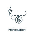 provocation icon thin outline style design from vector image vector image