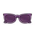 purple sunglasses modern trendy fashion cartoon vector image vector image