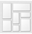 realistic blank white picture frame with shadow vector image vector image