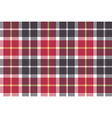Red and gray check fabric seamless texture vector image vector image