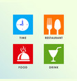 restaurant sign icon design vector image