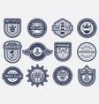 sea nautical and beach retro badges set vector image vector image