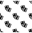 seamless pattern with lucky dices black silhouette vector image vector image