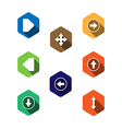 set icons with arrows flat design vector image