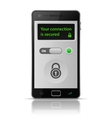 Smartphone secure connection vector image vector image