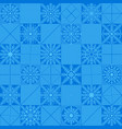 snowflakes placed in a chess checkerboard order vector image vector image