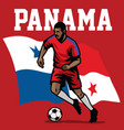 soccer player of panama vector image vector image