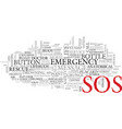 sos word cloud concept vector image vector image