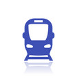 subway icon public transport sign vector image vector image