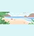 summer landscape with sea coast sand beach sky