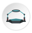table magnify icon circle vector image vector image