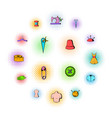 tailor elements icons set comics style vector image vector image
