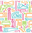 tools seamless background construction repairs vector image