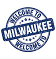 welcome to Milwaukee vector image vector image