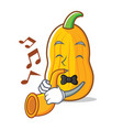 with trumpet butternut squash mascot cartoon vector image vector image