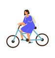 woman riding young female on bicycle teen girl vector image