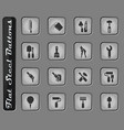 work tools icons set vector image