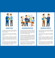 working process in office boss and employees vector image vector image