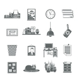 Workplace Icons Set vector image vector image
