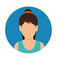 character woman fitness icon vector image