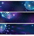 three horizontal disco backgrounds vector image